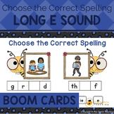 Long E Sound Boom Cards Choose the Correct Spelling | Dist