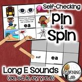 Long E Sounds (ee, ea, ie, ey, y, e_e) - Self-Checking Phonics Centers
