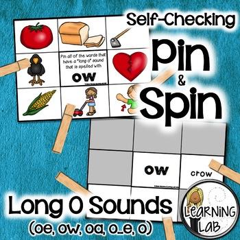 Long O Sounds (oe, oa, ow, o, o_e) - Self-Checking Phonics