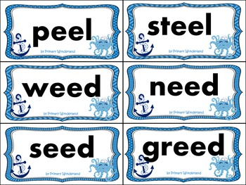 Long E Word Sort Cards