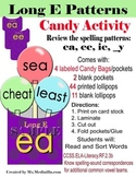Long E Spelling Patterns: Candy Sorting Activity Set