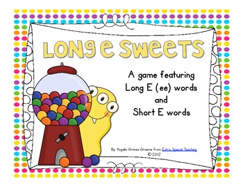 Long E Sweets - A Short E & Long E (ee) Game