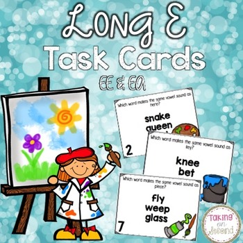 Long E Task Cards with EE & EA