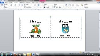 Long E - Vowel Digraphs EA & EE - Task Cards - Common Core RF.2.3