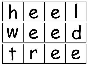 Long Vowels - E- Make-A-Word Literacy Center