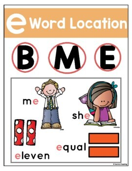 Long E Vowel Spellings Posters- Cracking the Spelling Code