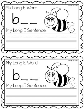 Long E Vowel Team {ee} Writing Book