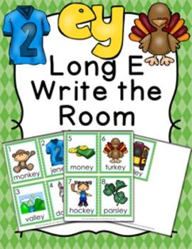 Long E Vowel Team ey Write the Room