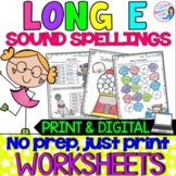 Long E Vowel Teams Practice Worksheets