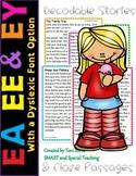 Orton-Gillingham Long E Vowel Teams Second Grade Decodable Stories  (EE EA & EY)