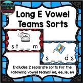 Long E Vowel Teams Sort
