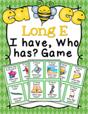 Long E Vowel Teams ee and ea Words I Have Who Has? Game