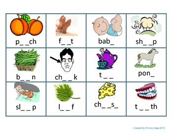 Long E Word Building Mat and Picture Sort