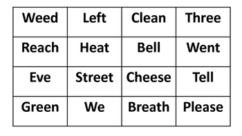 Long E Word Centers