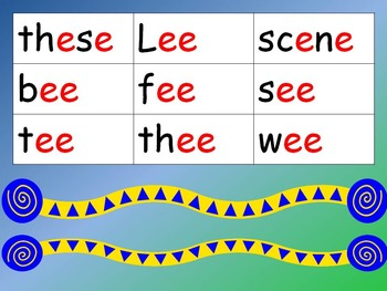 Long E Word Families 1