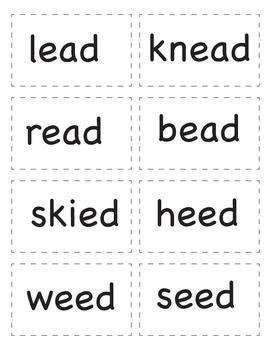 Long E Word Family Game