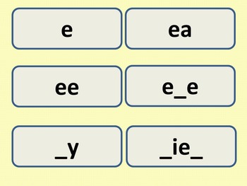 Long E Word Sort