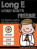 Long E Word Sort Cards