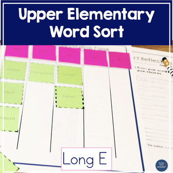 Word Sort Long E- Upper Elementary