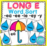 Long E Word Sort - ea, ee, ie, ey, y