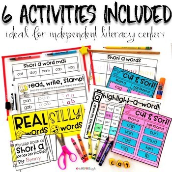 Long E Word Work Activities for Literacy Centers