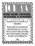 Long E Word Work Centers, Activities, and Posters