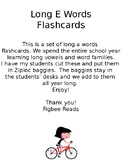Long E Words Flashcards