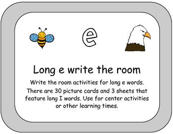 Long E Words Write the Room
