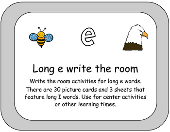 Long E Words Write the Room