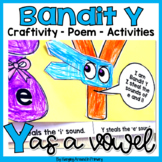 Long Vowel Centers - Craftivity - Printables For Long E and Long I (Bandit Y)