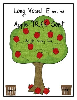 Long E ea and ea Apple Tree Activity Sort  Hartcourt Storytown 2nd Grade
