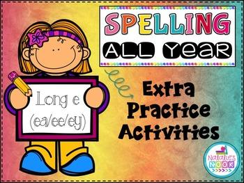 Long E (ea/ee/ey) - Extra Practice Activities