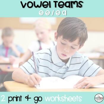 Long E (ee and ea) Phonics Sheet 2