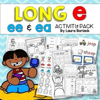#SPRINGSAVINGS Long E ee and ea Activity Pack