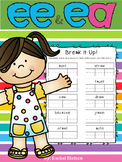 Long E (ee / ea) Phonics Worksheets (No Prep)