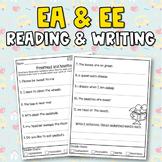 Long E (ee & ea) Worksheets