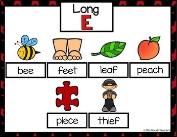 Long E (ee, ea, ie) Activities and Games