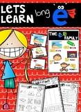 Long E (ee, ea, y, ey, ie) Activities and Word Work