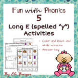 """Long E, spelled """"Y"""" Worksheets- Fun with Phonics!"""