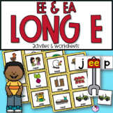EE and EA Long Vowel Unit With Sorting, Worksheets, Word Building