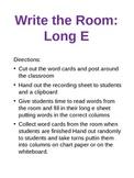 Long E word hunt