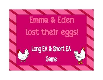 Long EA & Short EA File Folder Game