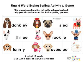 Long Final e Word Sort and Game