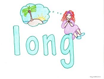 Long For Cartoon--Printable Montessori Homonym Cards
