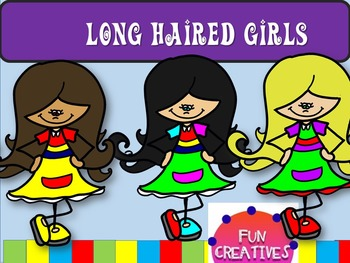 Long Haired Bright Girls Free Clip Art