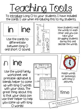 Long I Activities & Printables