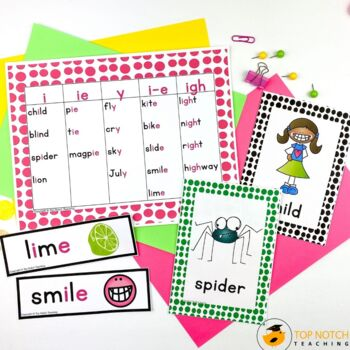 Long I Activities, Games & Worksheets