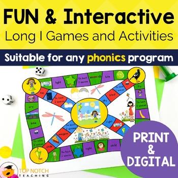 Long I Activities, Games & Worksheets