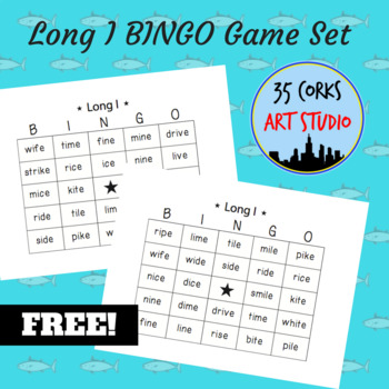 Phonics Practice Game - Long I BINGO Game Set - FREE!