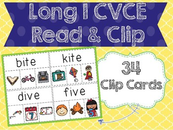 Long I CVCE Read & Clip Cards